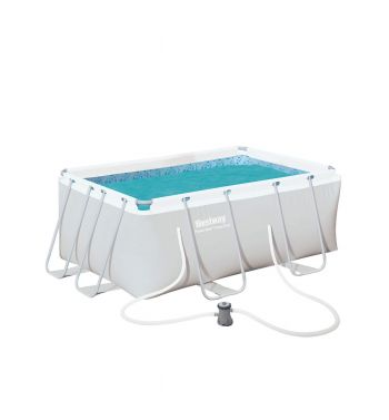 Piscina Desmontable Tubular Bestway Power Steel 287x201x100cm con Depuradora de Cartucho
