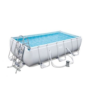 Piscina Desmontable Tubular Bestway Power Steel 404x201x100 cm con Depuradora de Cartucho