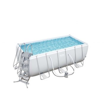 Piscina Desmontable Tubular Bestway Power Steel 412x201x122 cm con Depuradora de Cartucho