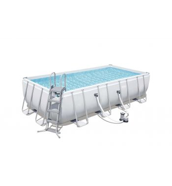 Piscina Desmontable Tubular Bestway Power Steel 549x274x122 cm con Depuradora de Cartucho