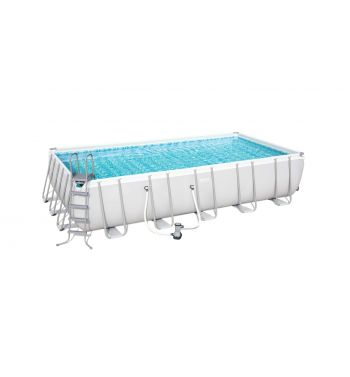 Piscina Desmontable Tubular Bestway Power Steel 671x366x132 cm con Depuradora de Cartucho