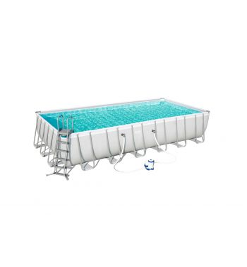 Piscina Desmontable Tubular Bestway Power Steel 732x366x132 cm con Depuradora de Cartucho
